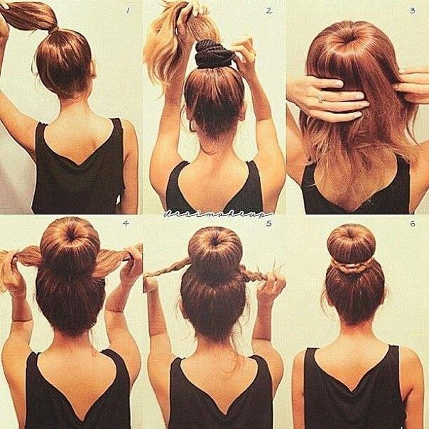 Причёски для средних волос лёгкие